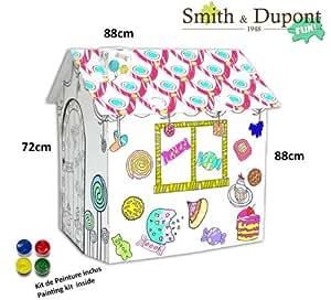 Maison Gourmande en Carton Grande à Peindre Kit Peinture Inclus - Smith&Dupont Fun!