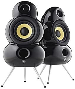 Scandyna Wireless Bluetooth Small PodSpeakers with iPhone and iPod Stream - Black