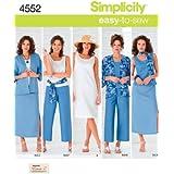 Simplicity 4552 BB - Patrones de costura para ropa de mujer (tallas grandes)
