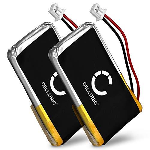 Cellonic 2X Qualitäts Akku kompatibel mit Plantronics CS50 CS510 CS520 C55 CS65 CS351N CS361N, Savi 720, 710, 420, HL10, W720 W710-65358-01,64399-03,202599-03 (240mAh) Ersatzakku Batterie Cs50-usb Wireless Office Headset