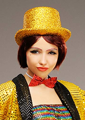 Columbia Kostüm Rocky Horror Fancy Dress - Magic Box Int. Erwachsenengröße Rocky Horror Style Columbia Gold Zylinder