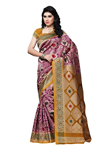 Mimosa Kanchipuram Art Silk Saree Rani(3058-R1-RANIGLD)