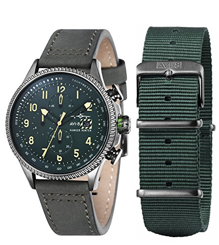AVI-8 Mens Hawker Hunter Watch - Green