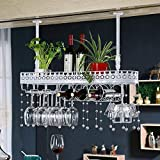 Wine rack too Weinregal Weinkühlschrank Ausstellungsstand Eisenkunstaufhängung Bar-Restaurant im europäischen Stil Auslage (Farbe : B, größe : 100cm)
