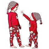 Homebaby Bambino Neonato Abiti Natalizi T-Shirt Manica Lunga con Stampa T-Shirt + Pantaloni Natale Costume della Santa del Partito del Vestito Pigiami da Regalo di Natale