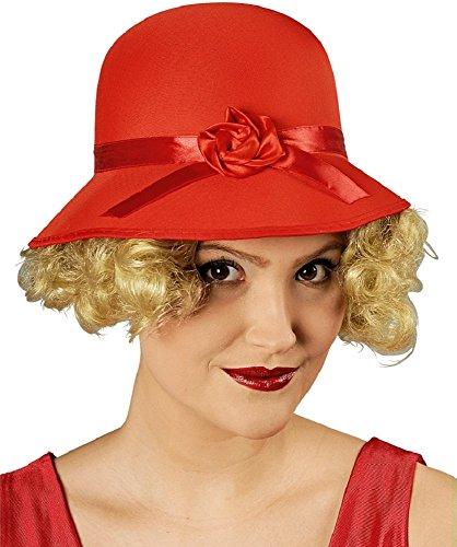 Charleston Hut für Damen - Rot - Zum 20er oder 30er Jahre - Korn Band Kostüm