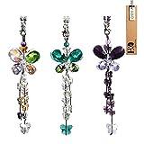 Kristallener Schmetterling-Sonnenfänger von H&D, Feng Shui, Fensteranhänger, Regenbogenmacher, Kronleuchter, Prisma