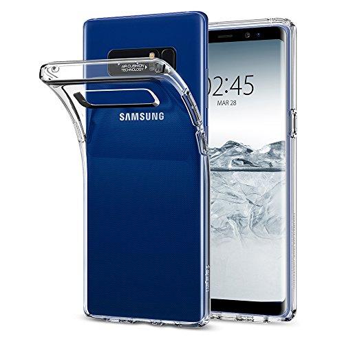 Samsung Galaxy Note 8 Hülle, Spigen® [Liquid Crystal] Soft Flex Silikon [Crystal Clear] Transparent Maßgeschneidert Passgenau Dünn Schlank Bumper-Style Handyhülle Premium Kratzfest TPU Durchsichtige Schutzhülle für Samsung Note8 Hülle Case Cover - Crystal Clear (587CS22056) (8)
