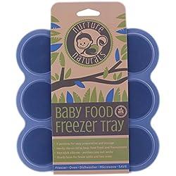 Gefrierform zum Einfrieren und Aufbewahren von Babynahrung/Babykost und als Behälter für Babybrei   2 Farben zur Auswahl   BPA-frei & FDA zugelassen   9 x 75ml, ideale Portionsgröße