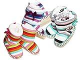 Sockswear Baby Home Slipper, Schuhe mit Schleifenapplikation,Socken innen mit weichem Teddyfutter in Orange-86/