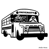 Monster Universität, Monster, Monster, Disney Film, Mike, Bandy BOOGS, Bus, Schule Bus (60 cm x 41 cm) wählen Sie Farbe 18 Farben auf Lager Badezimmer, Childs Schlafzimmer, Kinder Zimmer Aufkleber, Auto Vinyl-, Windows und Wandtattoo, Wall Windows Art, Decals, Ornament Vinyl Sticker ThatVinylPlace