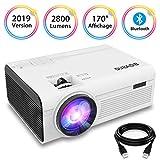 BIGASUO Vidéoprojecteur 2800 Lumens Portable LED Mini Projecteur Bluetooth, Soutien...