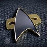 Qmx- Star Trek Insignia, Color Dorado, Estándar (Quantum Mechanix Inc. STR-0049)