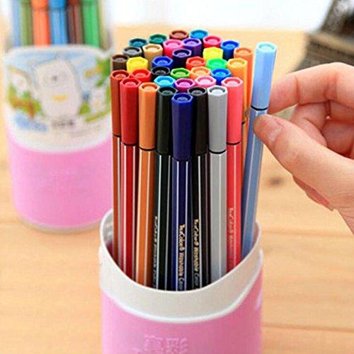 Kinder Färbung Stifte Set Jungen Mädchen Aquarell Bleistifte - am besten für Kinder Färbung Bücher, Zeichnung, Manga, Comic, Kalligraphie 36 Colours