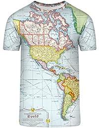 TrendClub100 Guru Shirt Weltkarte Cosmopolitan World