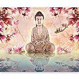 murando - Fototapete 300x231 cm - Vlies Tapete - Moderne Wanddeko - Design Tapete - Wandtapete - Wand Dekoration - Buddha 10040907-48