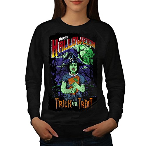 Halloween Hexe Horror Damen M Sweatshirt | - Clown Halloween-gesicht Ripper Geist