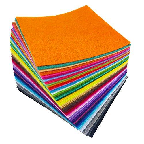 (flic-flac tischrockhalter 20,3x 20,3cm (20cm x 20cm) Filz Stoff Blatt sortiert Farbe Filz Pack DIY Craft Squares Faserstoff)