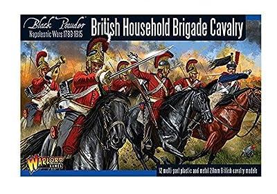 Warlord Games 3020 - Cavalerie de brigade de ménage britannique de poudre noire - 28mm Wargaming Miniatures x12