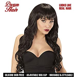 WIDMANN 06445peluca Melania Negro en Drea mhair Calidad, mujer, One size