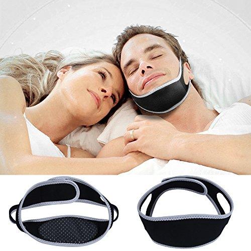 Allforlife verstellbar Schnarch Stop Gürtel Schnarchen CPAP-Kinnriemen Anti Schlaf Apnoe Kiefer Unterstützung Lösung UK