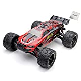 2.4G 4CH RC Car Hobby Truck 38 KPH 1/12 Scale Electric Remote Control Toy Vechicles Brushed 2WD Anti-Shock Waterproof Read to Run RTR Racing Truggy Drifting Cars (Red) SYMTOP