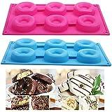 Seguryy–Molde de silicona con forma de donut (6 piezas), para chocolate, jabón, caramelos o gelatina
