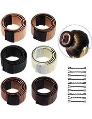 6PCS Accessoires de Coiffure, Lictin Bun Maker Set d'Outils de Coiffure Cheveux Coiffure Stylisée Accessoire Cheveux Filles