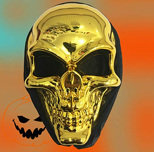 Kostüm Tuxedo Frauen - HYXGG Galvanisierte Schädelmaske Halloween Scary Gift Plastic Tuxedo