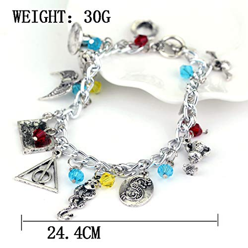 Yellow Chimes Harry Potter Merchandise Charms Bracelet for Girls and Women