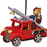 Christbaumschmuck Feuerwehr mit Teddy - 5 cm