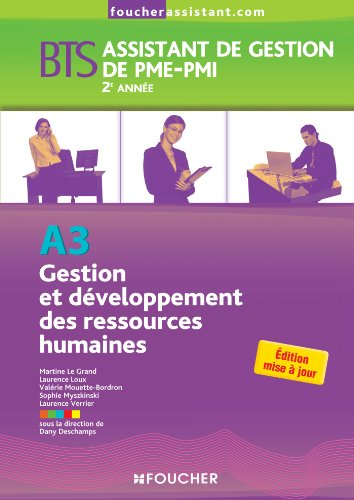 A3 Gestion et développement des ressources humaines 2e année BTS