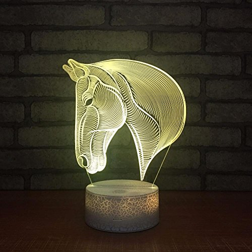 MAFYU 3D Illusion LED Nacht Lampe Ma Tau Design Kreative 7 Farben Farbe Kleine Lampe Atmosphäre zu Hause Dekoration Touch + Fernbedienung