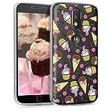 kwmobile Motorola Moto G4 / Moto G4 Plus Hülle - Handyhülle für Motorola Moto G4 / Moto G4 Plus - Handy Case in Pink Gelb Transparent