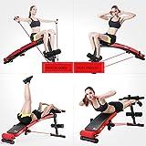 Emsems Heimtrainer, multifunktionale Crosstrainer zusammenklappbar Sit Ups Training, variabler Widerstand Bike Trainer (Style : One plate)
