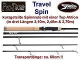 Sänger Pro-T Black Travel Spin (Reise Spinnrute), Länge:2.70m
