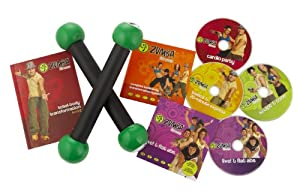 Zumba Fitness DVD Exercise Kit includes toning sticks from Zumba