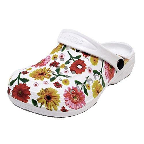 Damen Clogs Badeschuhe (59D) Badelatschen Pantoffel Pantoletten Schuhe Neu Größe 41, Farbe Gelb