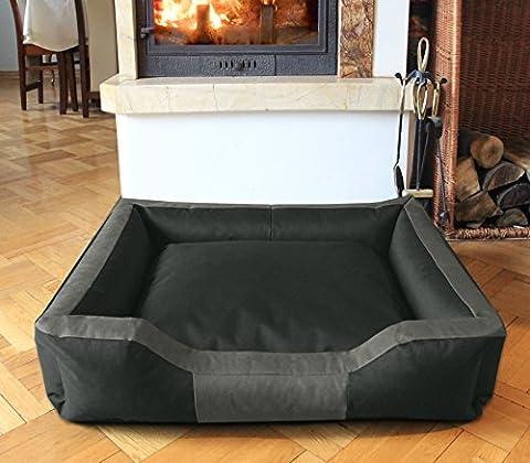 BedDog BRUNO, anthracite/gris, XXL env. 115x85 cm,Panier corbeille, lit pour chien, coussin de chien