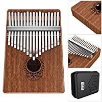 Kalimba 17 Keys Thumb Piano Built-in Professional Kalimba Bag,Study Instruction and Tune Hammer, Unique Gift for Kids Adult Beginners, Professionals.