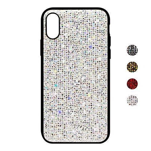 BoRan iPhone XS Hülle, iPhone X Schutzhülle, Blingbling Glanz wie Diamant Glänzend Glitter TPU Shell Schutz Tasche Schale Silikon Case Compatible for iPhone XS/X - Weiß Phone Cover Glitter
