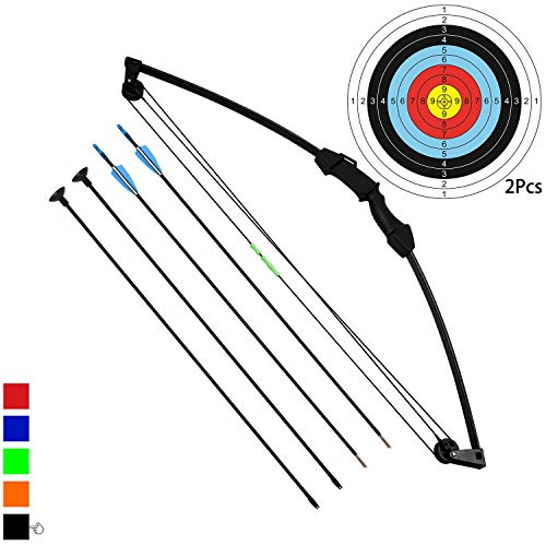 "Funtress 35"" Junior Arco Compound Archery Set con 4 frecce per Giovani Bambini"