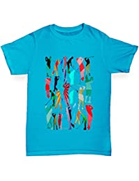 TWISTED ENVY Jungen T-Shirt Golf Rainbow Collage Print