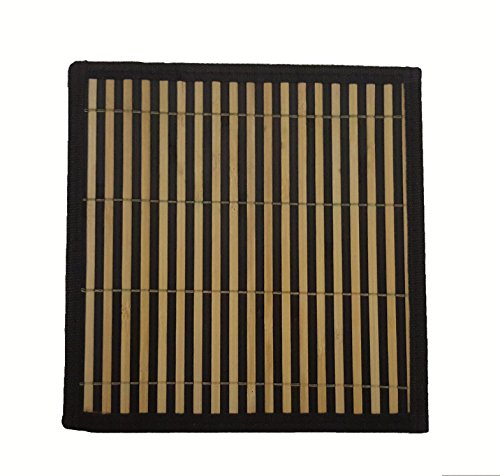 Bamboo Greens Coasters/ Hot Dish Mats/ Side Table Mats Size : 12 x 12 Inches, (Set Of 6)…