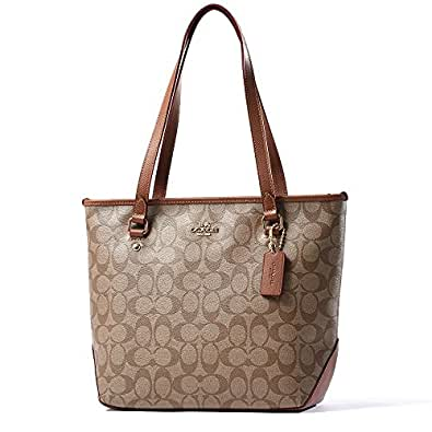 Coach Women's Leather Tote Bag(Tan)
