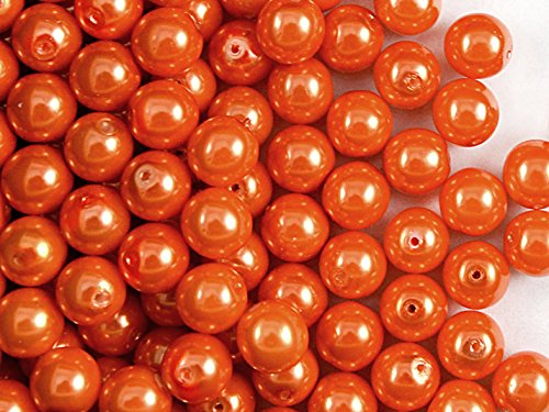 lot-de-30coussinets-tchque-perles-avec-un-revtement-perles-estrela-rondes-8mm-orange-pastel