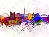 Posterlounge Forex-Platte 130 x 100 cm: Newcastle-Skyline von Editors Choice