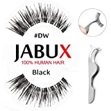 JABUX False Eyelashes Black #DW Classic Glamorous Perfect for Beginners Reusable Glamorous 3 Pairs Fake Eyelashes Amazon