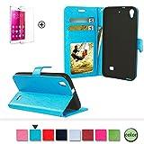 Für Huawei Ascend G620s Leder Brieftasche Hülle Case Flip