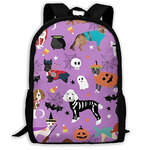 Hunde in Halloween-Kostümen - Hunderassen Verkleidet mit Stoff - Purple_232 Laptop-Rucksack für Reisen, extra großer College-Schüler-Rucksack für Männer und Frauen , klassischer - Michaels Hunde Kostüm